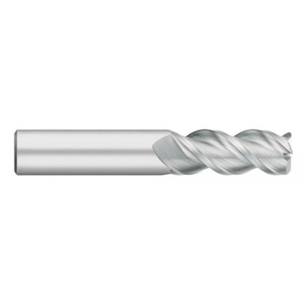 3 Flute Single End | 45 Degree for Aluminum with Radius